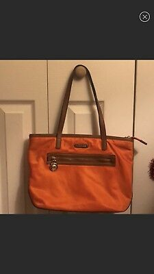 2ecfe5203fed MICHAEL KORS KEMPTON North South Black Nylon Tote Bag with Brown ...