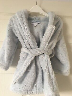 Baby The Little White Company Dressing Gown Bath Robe Age 6-12 Months