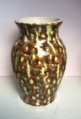 Dragon Pottery Rhayader Wales Vase - Hand Painted and in Perfect Condition