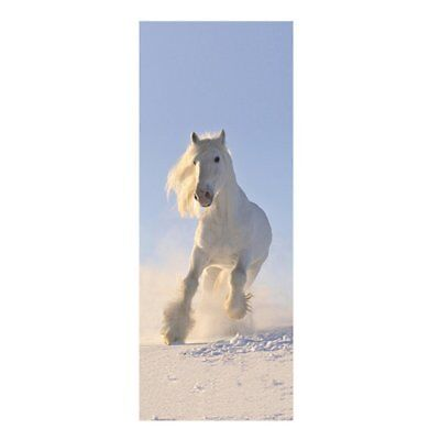 3D Door Poster Wall Sticker Galloping Horse For Bedroom Modern Decoration Y2