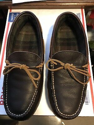 L.L. Bean mens sz 11 Hand sewn Slippers flannel lined