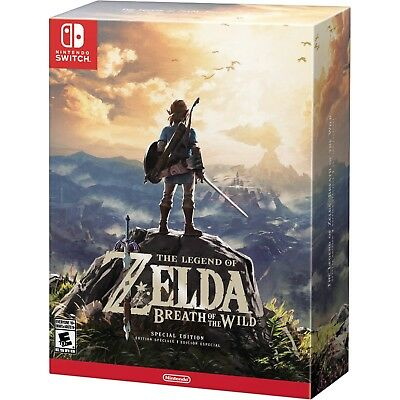 NEW MINT! The Legend of Zelda Breath of the Wild Special Edition Nintendo Switch