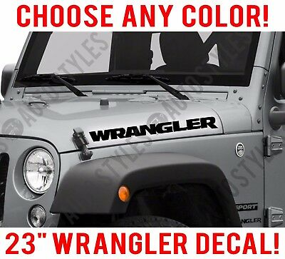 riveted - 2 pc set American Flag Jeep Rubicon Hood decals stickers
