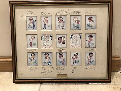 1987 Ryder Cup Winners Signed