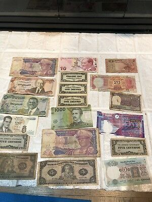 FOREIGN BILLS MONEY COLLECTION 19 Notes