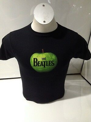 The Beatles Men's Apple Logo T-shirt Black