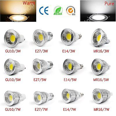 Bright MR16 GU10 E27 E14 Non-Dimmable LED COB Spot Down Luces Lámpara Bombillas