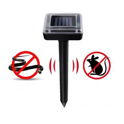 Ultrasonic Solar Animal Repeller Rid Repels Rabbits Suirrels Skunks Deer Bat