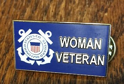 U.s. Coast Guard - Woman Veteran Pin - New