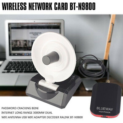 PASSWORD CRACKING BEINI Internet Long Range 3000mW Dual Wifi Antenna USB  G1F8S