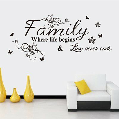 PVC Removable English Letter Pattern Wall Stickers Home Decoration Wallpaper HO5