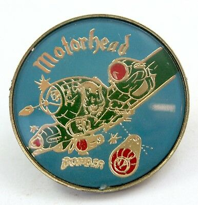 MOTORHEAD 'Bomber' Lapel Badge - Vintage Motorhead Pin Badge