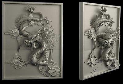 3D STL Model # THE DRAGON # for CNC Aspire Artcam 3D Printer Engraver Carving
