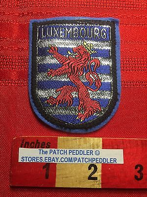 BENELUX NATION - Country Of LUXEMBOURG Souvenir Patch LION HERALDRY 63EE