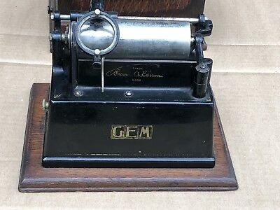 Antique Thomas Edison Gem Wind Up Phonograph