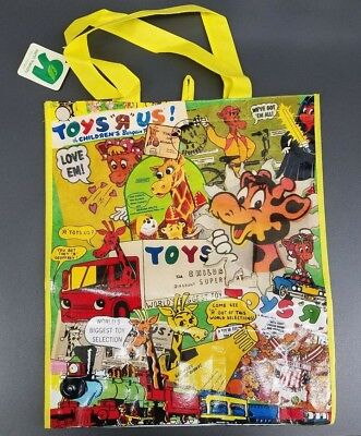 Toys R Us Exclusive Reusable Shopping Bag Tote Gift Bag Vintage Advertisements