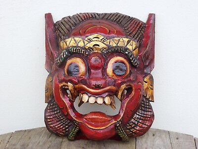 Barong Mask Wooden Hand Carved & Painted Balinese..