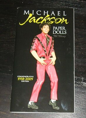 Michael Jackson PAPER DOLLS Commemorative Edition BOOK Tom Tierney