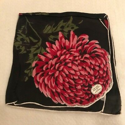 Vintage Pure Linen Hand Rolled in the Philippines Black w/Red Handkerchief