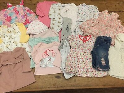 Baby Girl 0-3 Month Clothes Bundle (1)