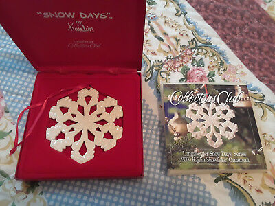 Longaberger 2000 Collectors Club Snow Days By Kaitlin Ornament