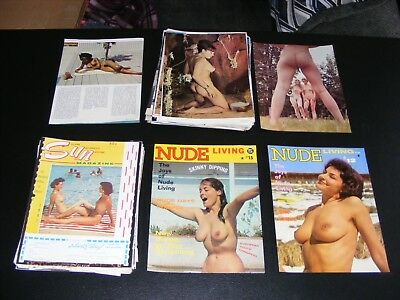 Vintage 1960's Loose Nude Magazine Pages 189 Pages Total Nude Photography #3