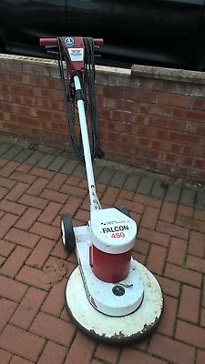 Falcon 17 inch floor buffer, used. Inworking order complete with drive pad