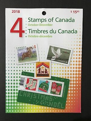 Canada Stamps MNH 2018 #4 October - December Quarterly Pack. Never Opened!!