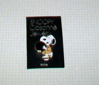 Vintage Aviva Peanuts Snoopy Cloisonne Jewelry Pin Brooch NOC Snoopy Bowling NEW