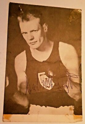 Dick McTaggart - 1956 Olympic Boxing Champ Signed Postcard