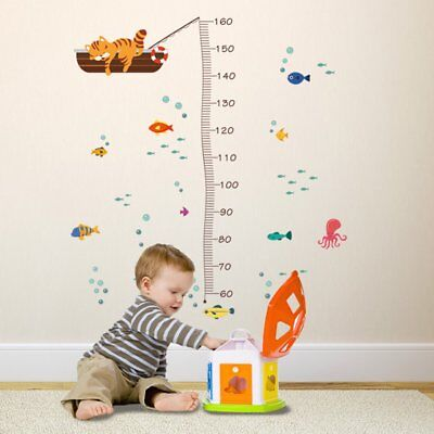Wall Sticker Height Ruler Scale Chart Measure Kids Room Painting Growth Gift #H