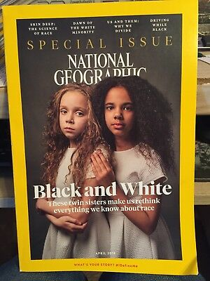 National Geographic Mag. April 2018: BLACK and WHITE Rethink Race--Special Issue