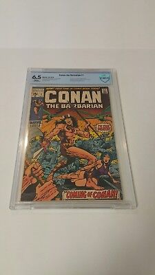 Conan the Barbarian #1 (1970, Marvel), CBCS, FN+, 6.5, White Pages, 1st Conan