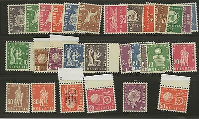 Switzerland Lot Official Mnh Stamps