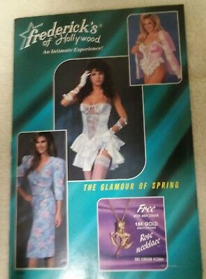 Cool old Frederick's of Hollywood Vintage catalog spring 1989 Good condition!