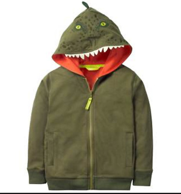 Mini Boden boys top hoodie age 3 4 5 6 7 8 9 10 years dinosaur NEW