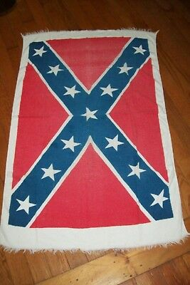 Vintage  Flag  Red White Blue Beach Towel 1960s