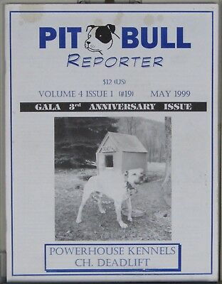 Pit Bull magazines, Pit Bull Reporter, Vol. 4, issues 1 - 3 - 4 & 5