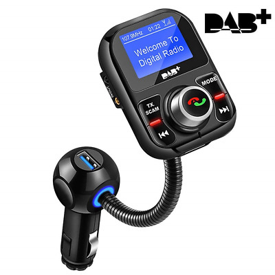 DAB Car Radio Adapter, In-Car DAB/DAB+ Receiver with Bluetooth FM...