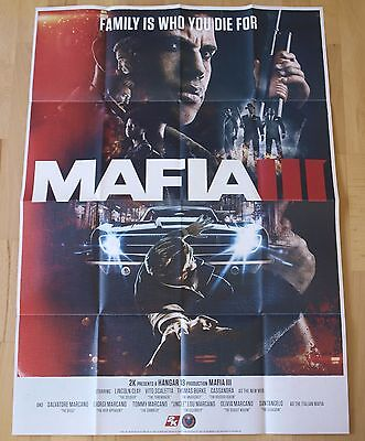 "MAFIA 3 (MAFIA III) POSTER NEW SEALED (PS4/XBOX ONE) SONY 33"" X 23"" (84 X 59cm)"