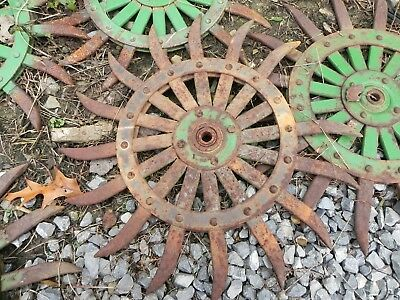 Vintage/antique - Tiller Head / Cultivator / Rotary Hoe Wheel / Farm Equipment