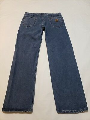 20265c4f19c Carhartt B480 Dps Traditional Fit Blue Jeans Mens Actual Size 38 X 33 -  M9769