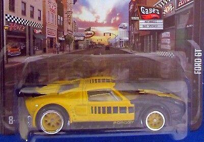 2013 Hot Wheels BOULEVARD Yellow and Black FORD GT *Real Riders