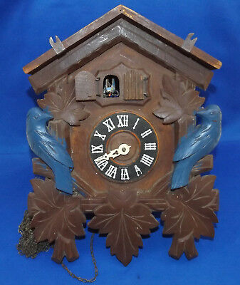 vtg Antique Germany Black Forest Cuckoo Clock Mfg. Co. w/ Music Box Parts Restor