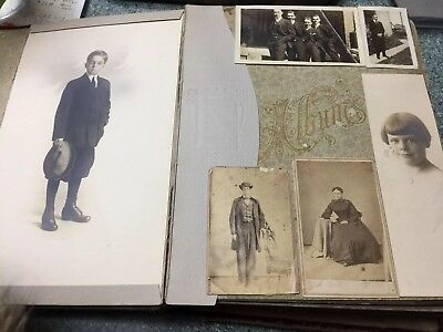 Vintage Photo Album loaded With Cabinet Pix and Tin Types!