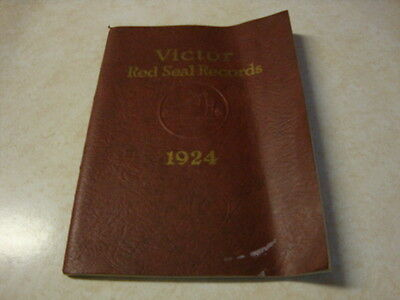 Victor Red Seal Record Catalog 1924 Softcover