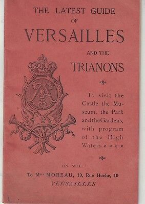 Rare 1920's  Latest Guide Versailles and Trianons Train Sch to/frm Paris  1/19-d