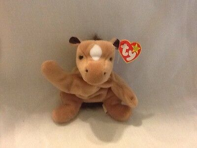 """TY Beanie Babies """"DERBY the HORSE  Born 10-16-95. Good Condition, Original Tags"""