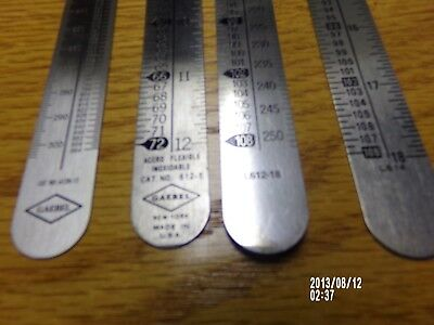 4-  Letterpress printers ruler agate Inches points inches 2- 18 inch 2- 12 inch