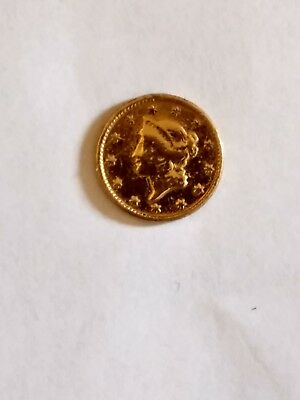 1851 Liberty Gold $1 Dollar Coin.Nice condition for a 150 + year old coin